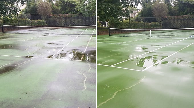 Tennis Court Pressure Washing Middletown NJ