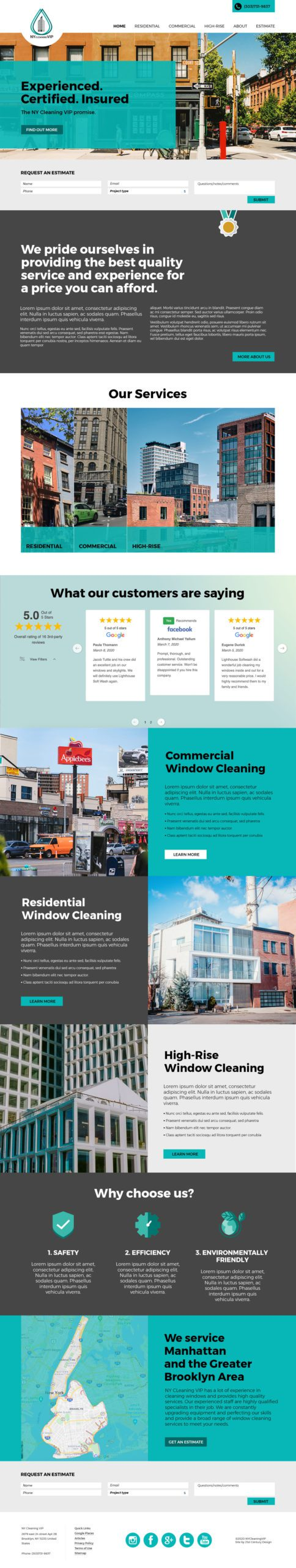 Window Cleaning Custom Website Design