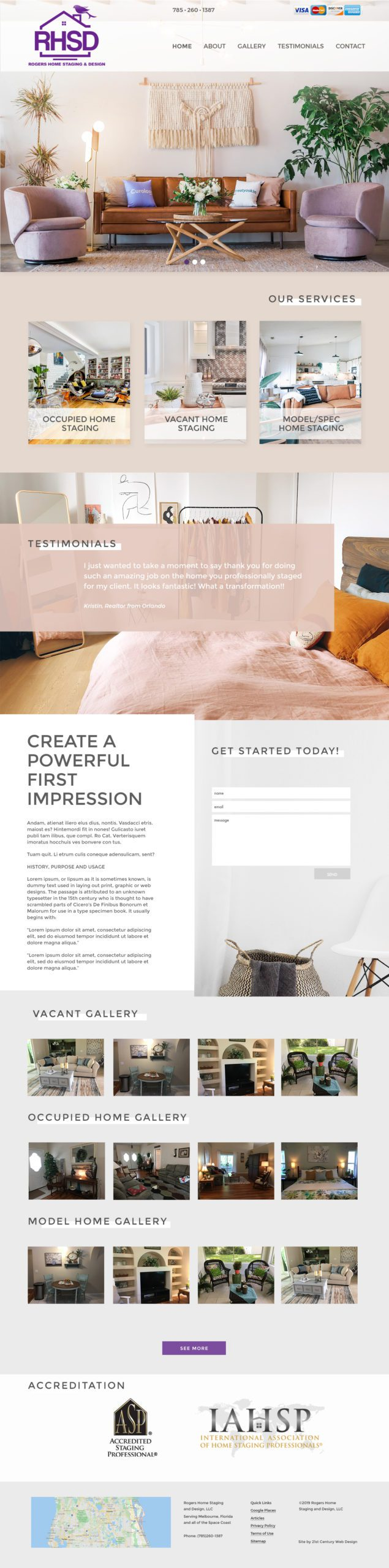 Interior Design Company Custom Website Design