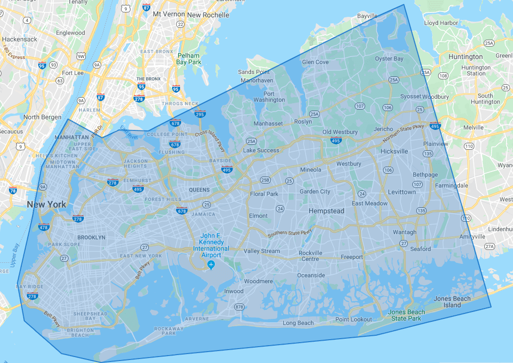 Our New York City Service Area